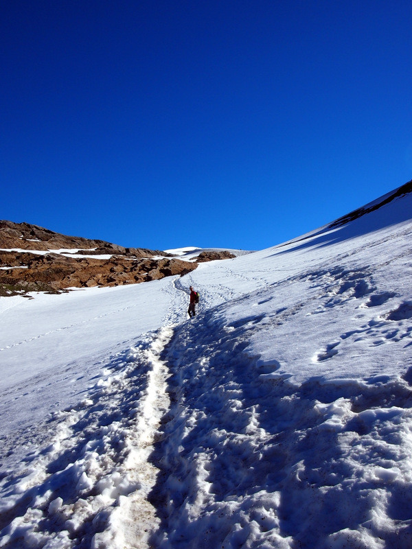 Largest snow patch on the walk, which was on the high route variant.