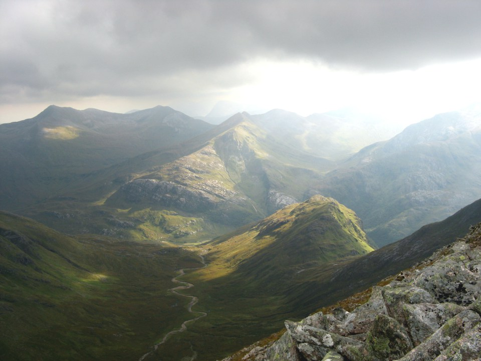 The Mamores from the Carn Mor Dearg arete